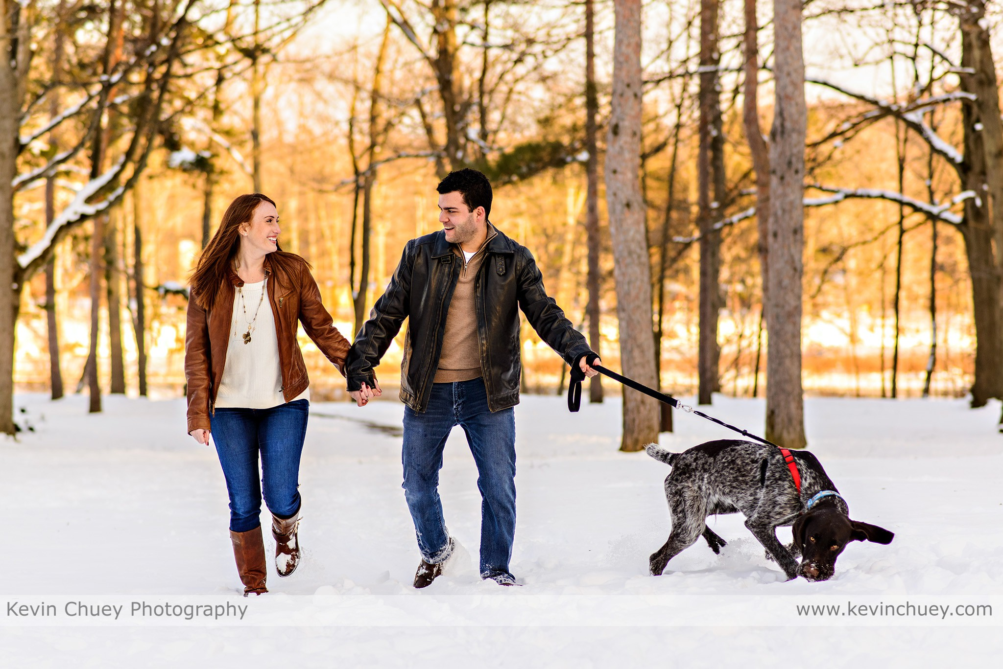 Snowy Cleveland Engagement Session